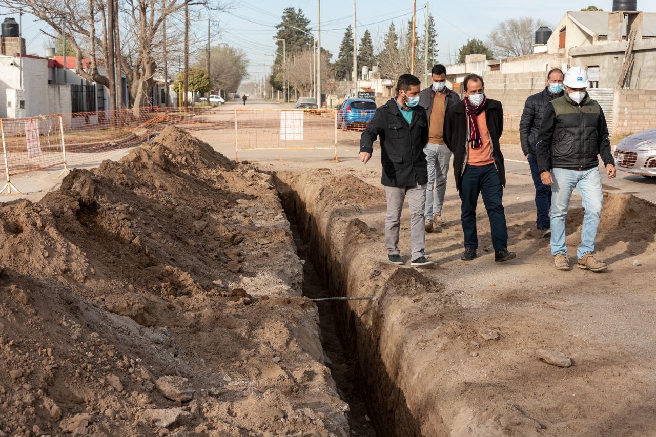 Cloacas para barrio Alberdi: la obra registra un 95 por ciento de avance
